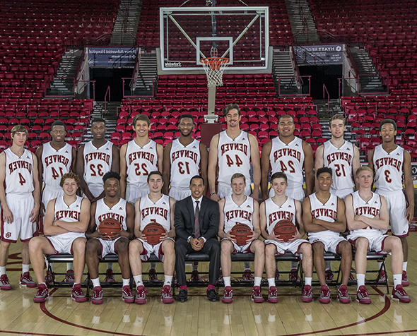 The University of Denver men's basketball team.